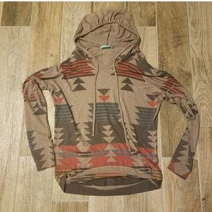 Size small cute tribal hoodie